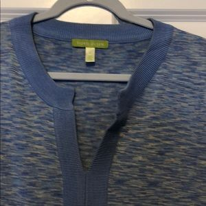 10b73c220a8eb0 Sigrid Olsen Sweaters - Sigrid Olsen blue pattern tunic sweater.